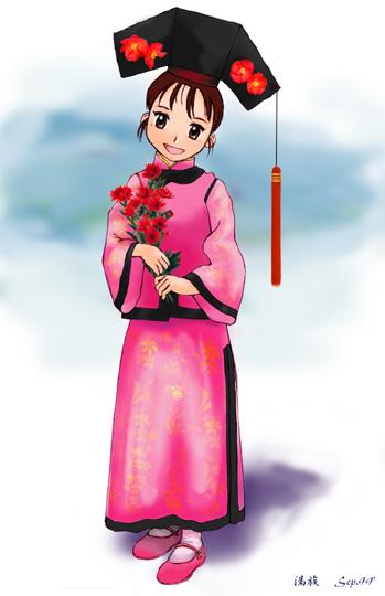 旅日知名满族美女画家张文画萨